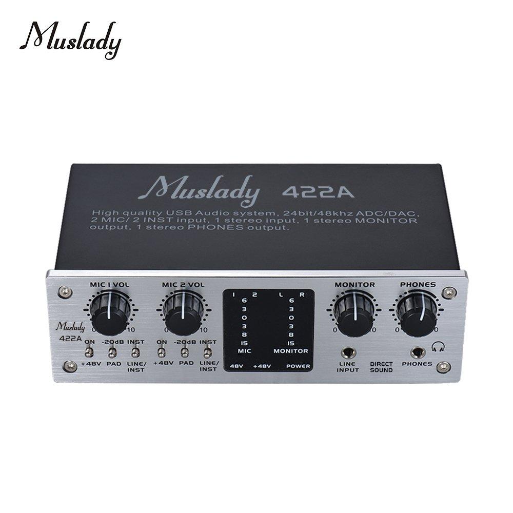 Festnight Muslady 422A Interfaz del sistema de audio USB de 4 ...