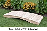Amish-Made Weight-Bearing Cedar 4' x 8' Plank Garden Bridge, Natural Stain