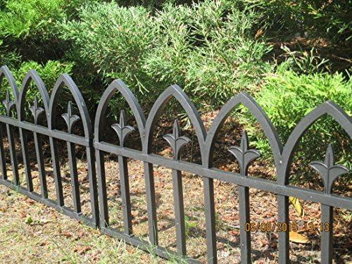Longitud 2 M alta 35 cm 4 elementos Valla de jardín (Cercado Valla para Bancal Césped mähkante Palisade Bancal Césped borde: Amazon.es: Jardín