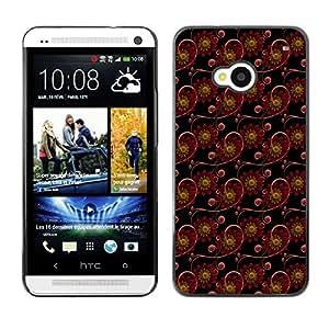 FlareStar Colour Printing cute flower cáscara de plástico para HTC One M7