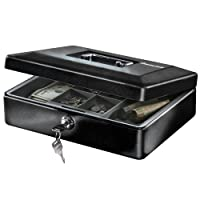 SentrySafe CB-12 Cash Box With Money Tray, .21 cu ft Deals