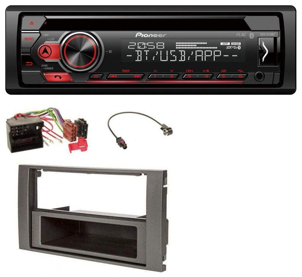 caraudio24 Pioneer DEH-S310BT Bluetooth MP3 CD USB AUX Autoradio fü r Ford Fusion Kuga Transit 05-12 anthrazit