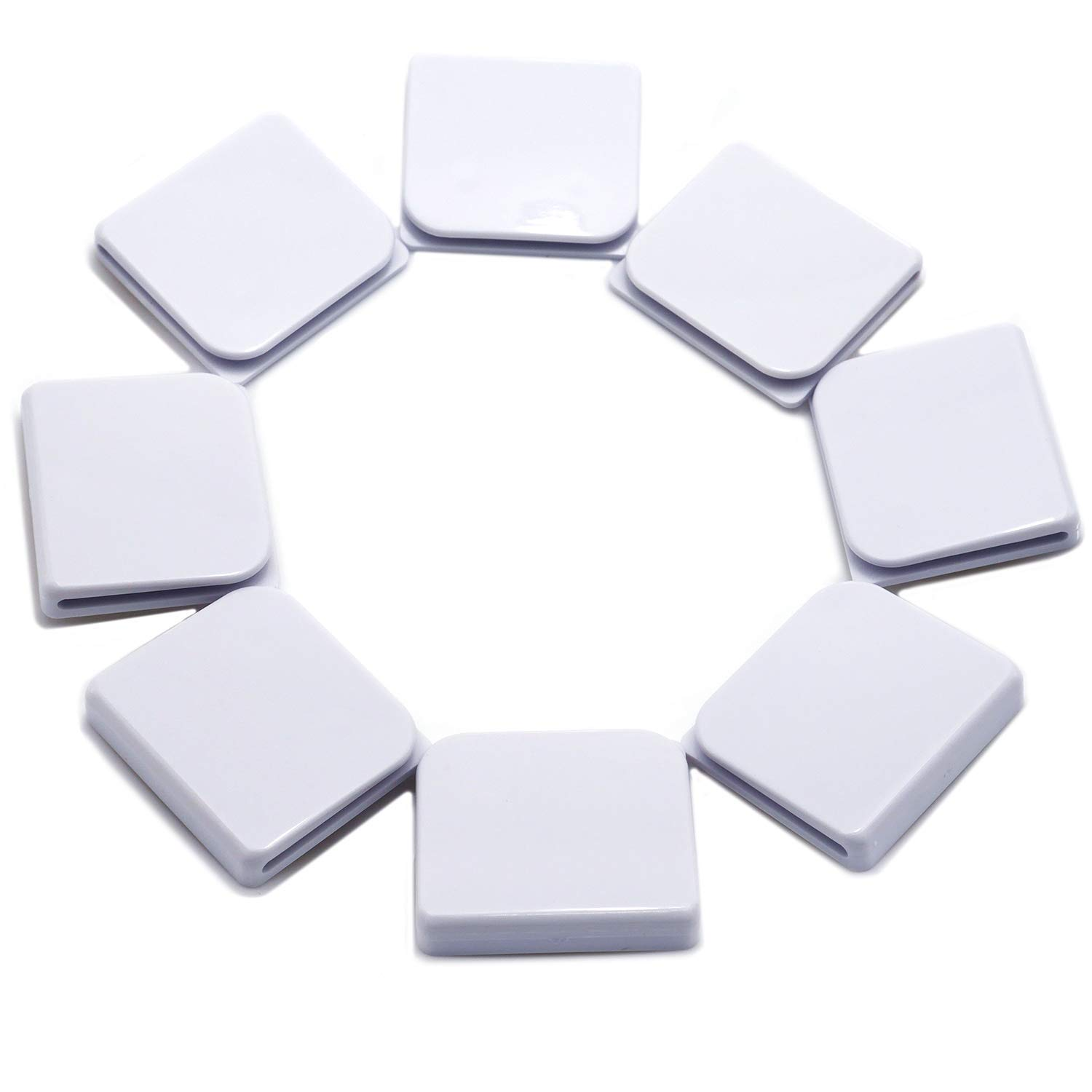8 Pcs Windproof Stop Protect Clips,Shower Curtain Splash Guard Clip Windproof Self Adhesive Curtain Clips - White by COJOY