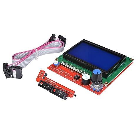 JVJ LCD 12864 Graphic inteligente función atril de control de ...