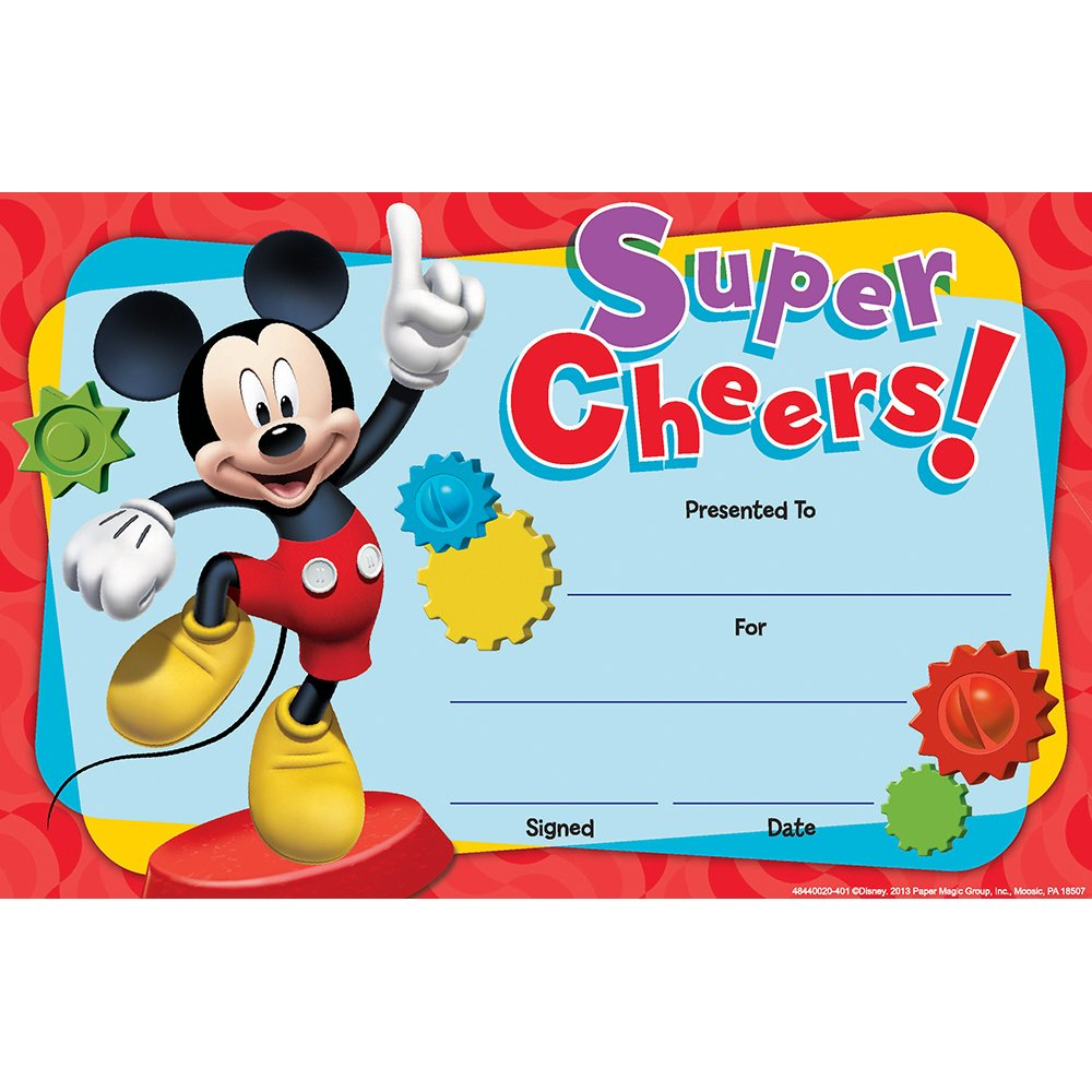 Eureka Mickey Mouse Clubhouse Super Cheers Recognition Awards