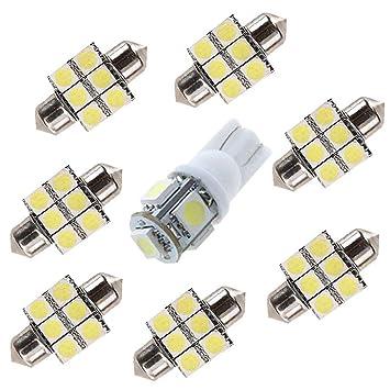 8 X CANBUS Coche LED Bombillas 12V Para Coches Luces De La Matrícula Posición Laterales Iluminación Interior Luces Laterales: Amazon.es: Coche y moto
