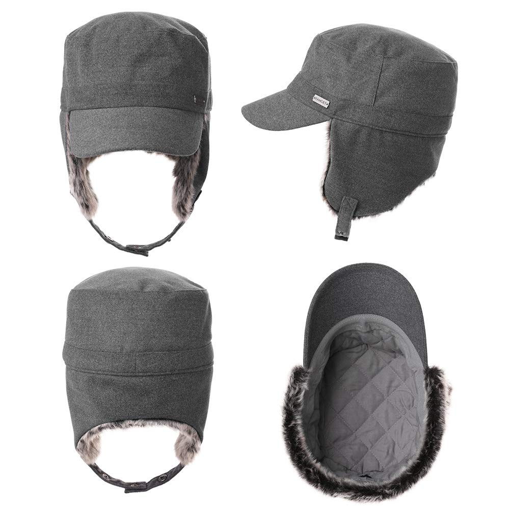 Comhats Trapper Hat Earflap Elmer Fudd Military Baseball Cap Winter Warm Unisex 56-61CM