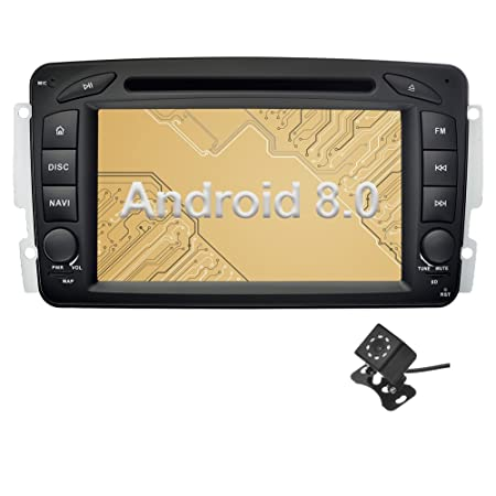 Ohok 2 DIN 7 Pulgadas Autoradio Android 8.0.0 Oreo Octa Core 4GB Ram 32GB ROM Reproductor DVD/GPS Navegador Soporta Bluetooth AV-IN para Mercedes-Benz con ...