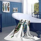 alisoso African Woman Soft Luxury Bath Sheet Set Religious Dance Performed by African Women in Traditional Ethnic Dresses Bath towel 3D digital printing set Multicolor