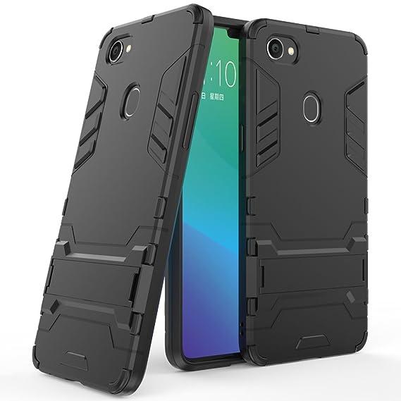 sale retailer c04e5 db904 Amazon.com: OPPO F7 Case, OPPO F7 Hybrid Case, Dual Layer Shockproof ...