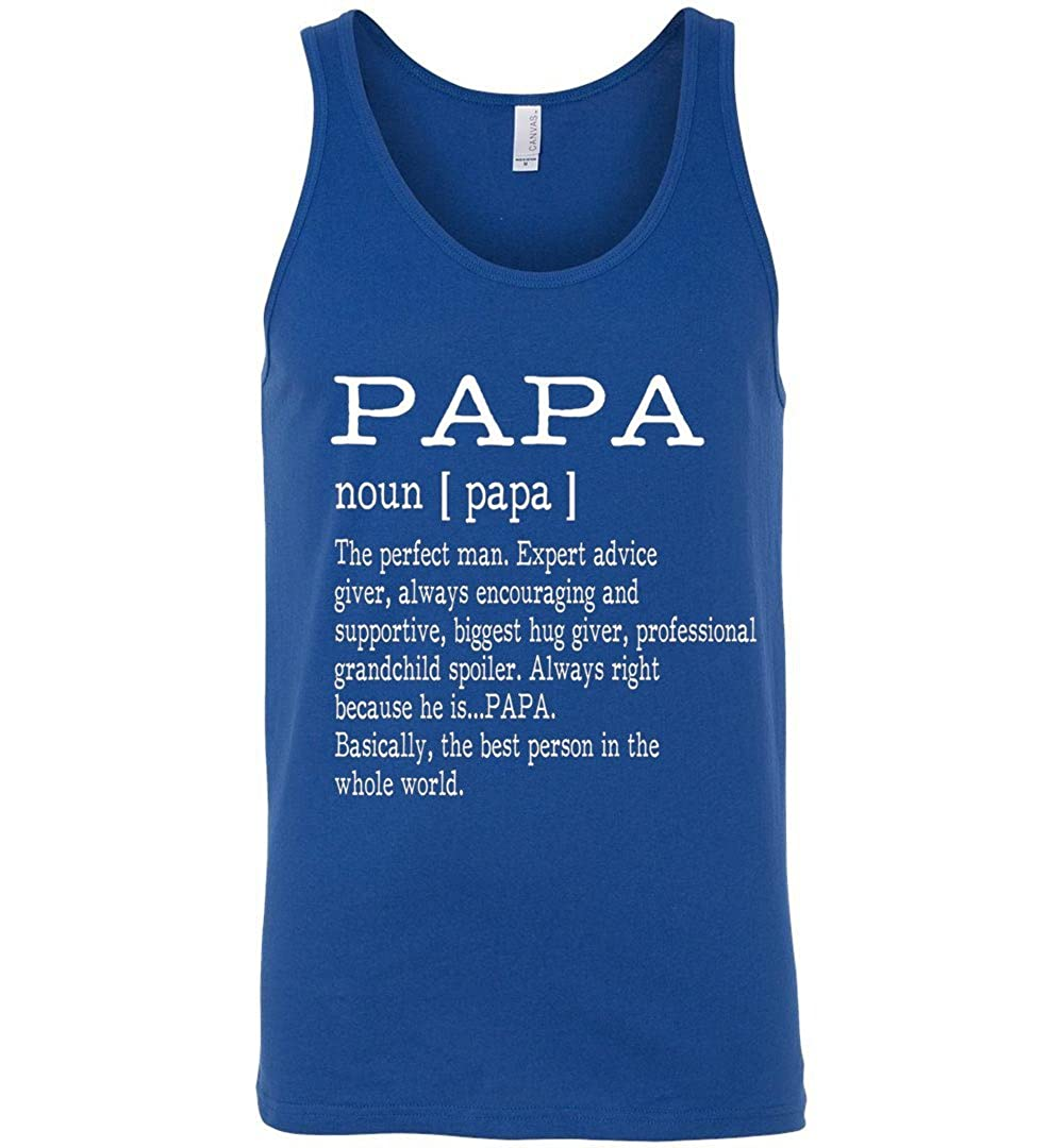Papa Definition Grandpa Tank Top