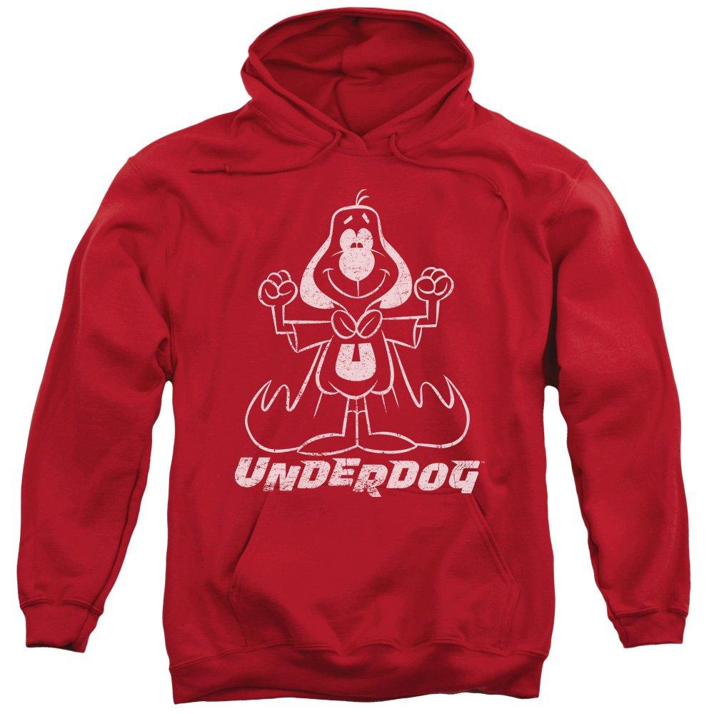 2Bhip Underdog 1960 animierte tv-serie vinatage gliederungsart hoodie für Herren