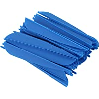 XZANTE Flechas Paletas 4 Pulgadas Cola De Flecha De Pluma De Plástico para DIY Flechas De Tiro con Arco Paquete De 50…