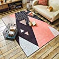 Wolala Home Animal Leopard Striped Household Living Room Carpet Rug European Fashion Soft and Smooth Bedroom Bedside Area Rug Mat