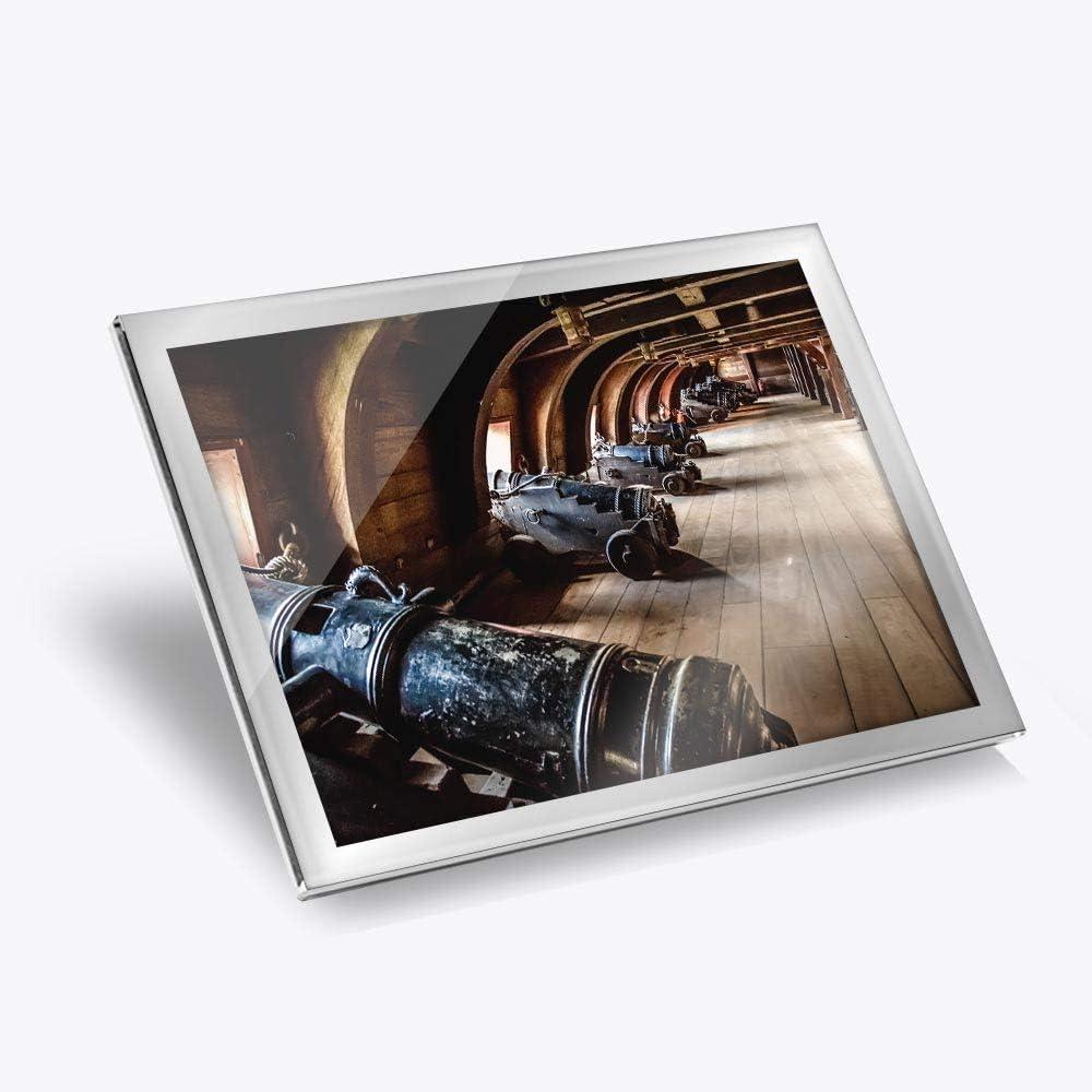 Destination Vinyl ltd - Mantel individual (cristal, 20 x 25 cm), diseño vintage pirata barco galeón pistolas lugar de trabajo/mesa/comedores/lavables/impermeable #16158