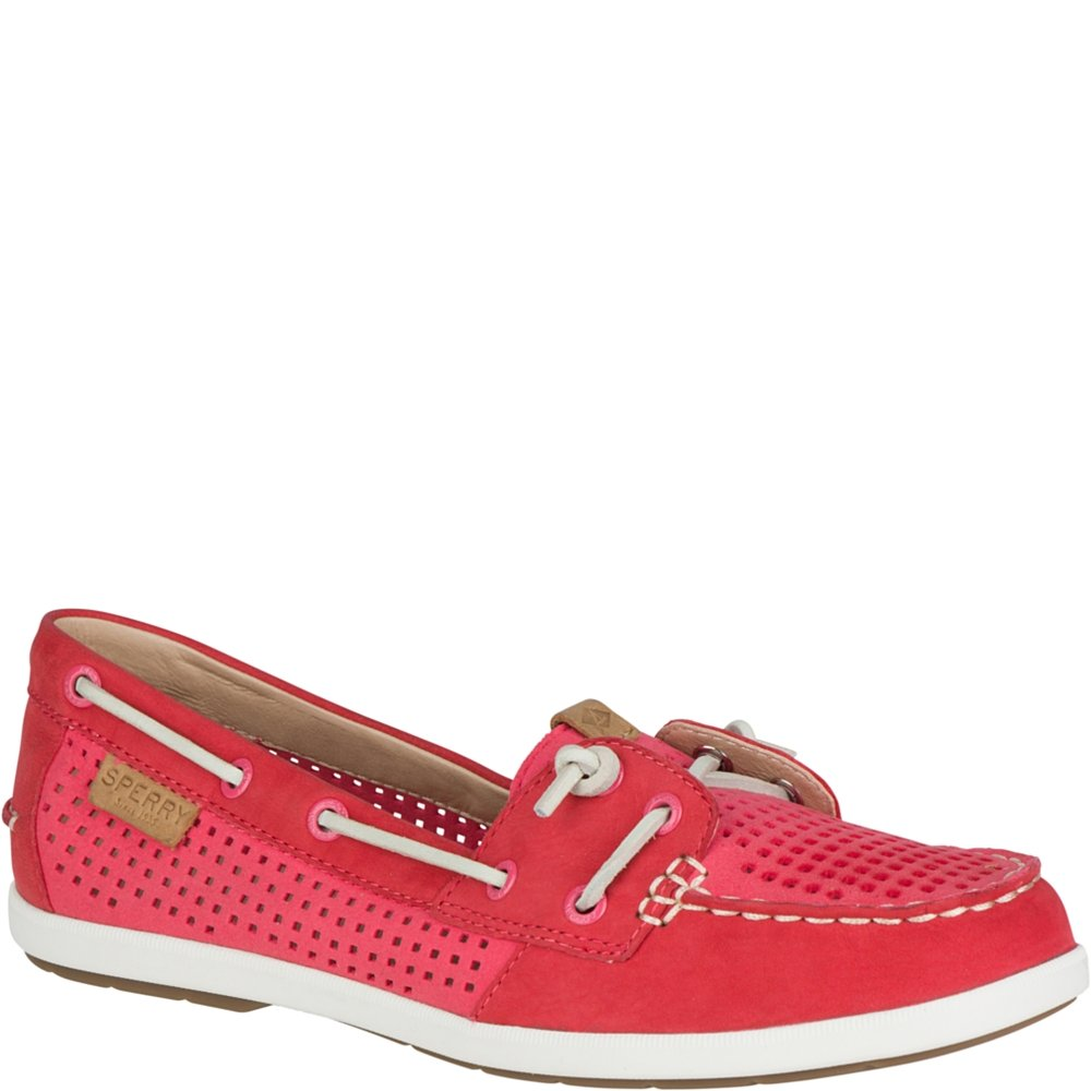 Sperry Top-Sider Women's Coil IVY Perf Boat Shoe, Wild Rose, 6.5 M US