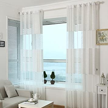fastar cortinas salon modernas todo fsforo cortinas transpirables rayadas para el dormitorio sala - Cortinas Salon