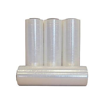 "4 Rolls Clear Stretch Plastic Wrap 5/"" x 1000/' x 80ga Stretch Wrap Stretch Film"