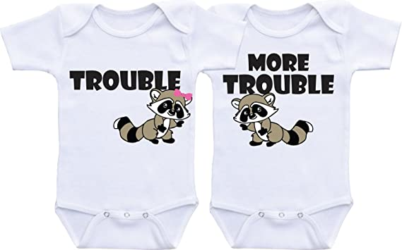 ea6dc8961941 Amazon.com: QLShops Twin Outfits Twin Onesies Gifts for Twins Boy Girl  Twins Baby Gifts Boy Girl Twins Baby Twin Gifts: Clothing