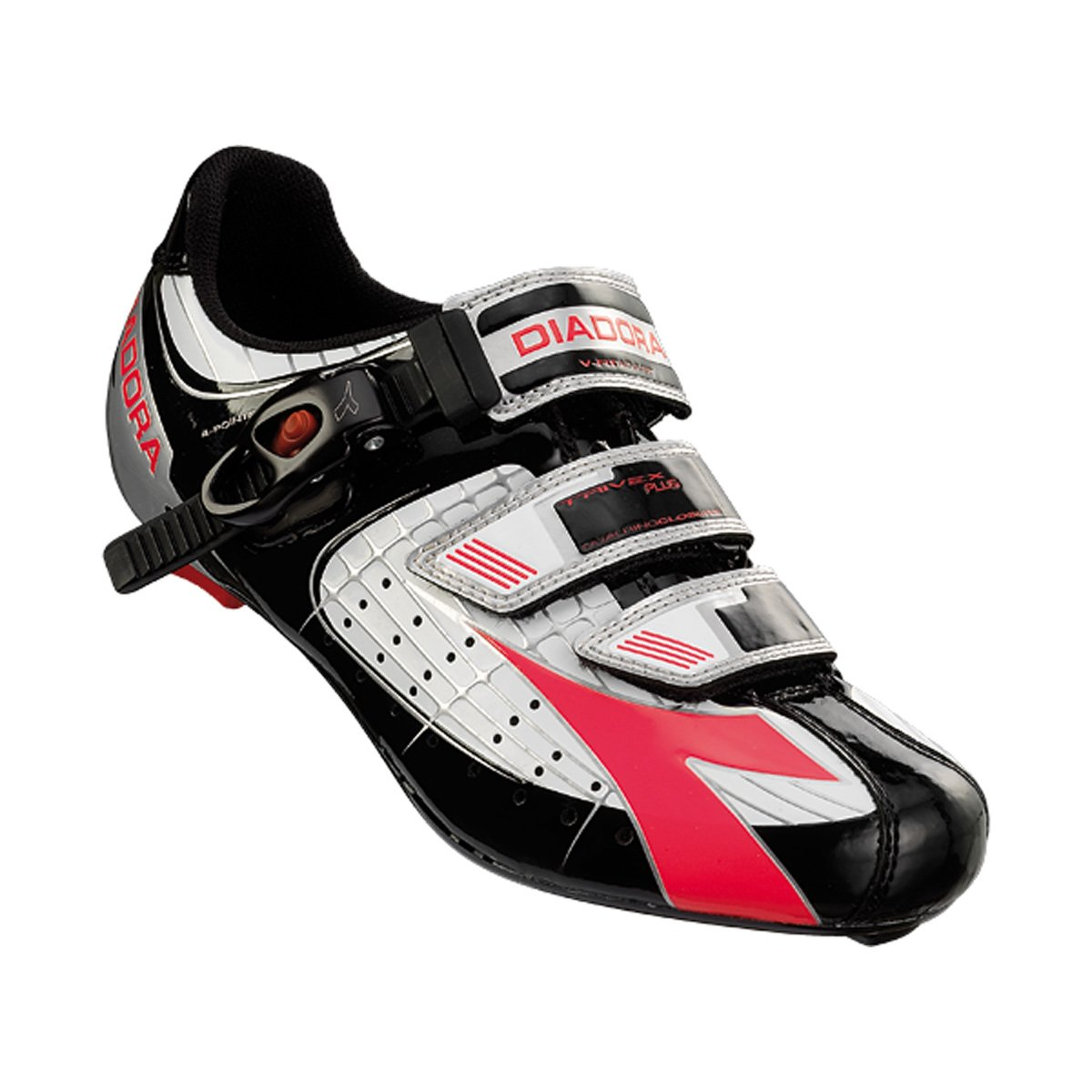 Diadora Women's Trivex Plus Road Cycling Shoe - 159741 (white/black/fuxia red - 39)