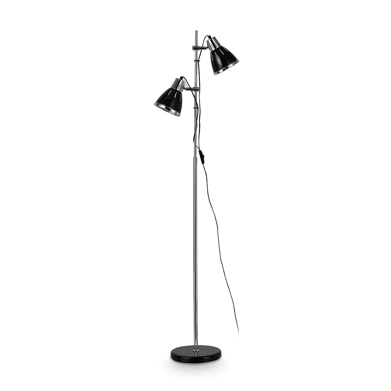 IDEAL LUX lampada a terra Elvis Pt2 colore nero e montatura in metallo