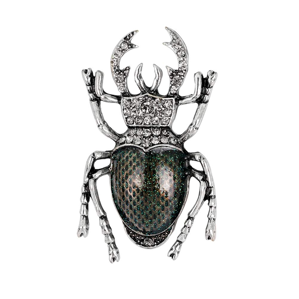 2.8CM size 4.7 Green Gespout Wild Insect Brooch Vintage Beetle Brooch Fashion Lady Corsage and Female Girl Gift
