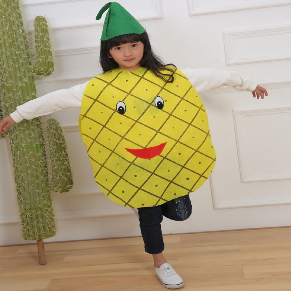 Matissa Niños Frutas Verduras Y Trajes De La Naturaleza Trajes Fiesta De Disfraces Niños Y Niñas Piña