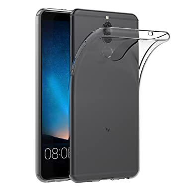 info for e40b6 ed55a Huawei Mate 10 Lite Case, AICEK Transparent Silicone Cover for Huawei Mate  10 Lite Bumper Covers Clear Case (5.9 inch)