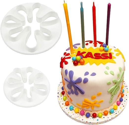 Admirable Amazon Com Set Of 2Paint Splatter Cookie Cutter Set Hand Funny Birthday Cards Online Hendilapandamsfinfo