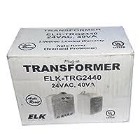 Elk TRG2440 24VAC, 40 VA AC Transformer with PTC Fuse