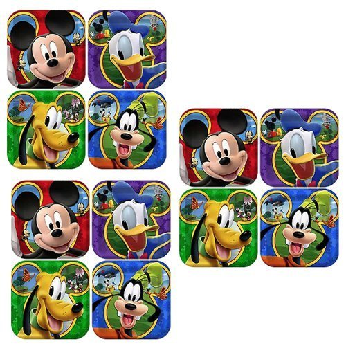 [Disney Mickey Mouse Clubhouse Playtime Party Cake/Dessert Plates - 24 Guests] (Mickey Mouse Clubhouse Plates)