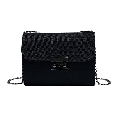 f7d83eb216f1 Yuan Women Small Messenger Bag Ladies Female Elegant Wild Small Bag Wild  Chic Chain Girl Small Bag Striped Mini Bag Chic Wool  Amazon.co.uk  Shoes    Bags