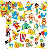 Baker Ross Circus Foam Stickers (Pack Of 120) For Kids To Decorate, Arts, Crafts, Cards & Scrapbooking