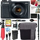 Canon PowerShot G9 X Mark II 20.1MP Digital Camera + 32GB Deluxe Accessory Bundle (Black)