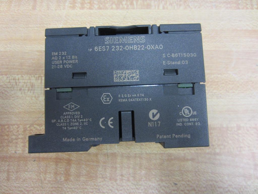 USED Siemens  6ES7-232-0HB22-0XA0 6ES7-232-OHB22-0XA0 6ES72320HB220XA0
