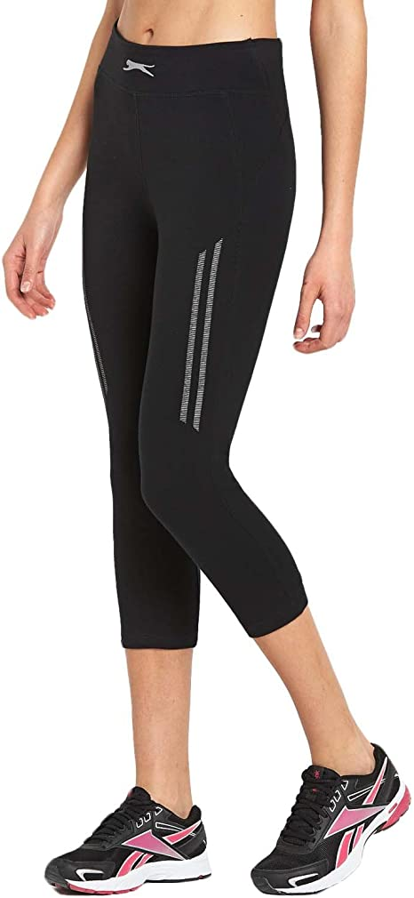 Womens Cropped Length Leggings Quality 95/% Cotton Run Gym Active Sports Various