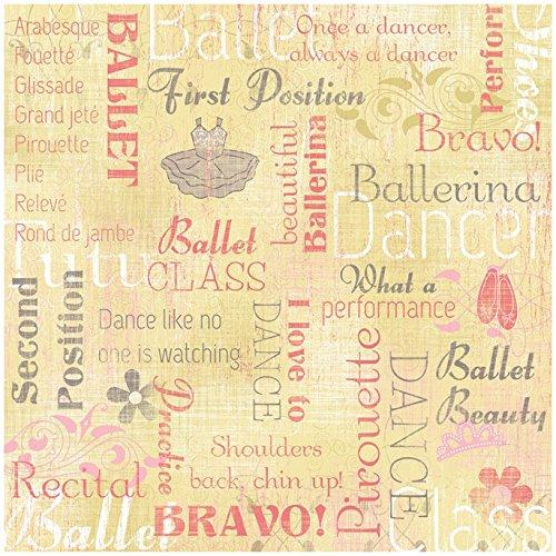 - KAREN FOSTER Design Scrapbooking Paper, 25 Sheets, Ballerina Collage, 12 x 12