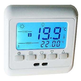 Relativ Aubig Digitale Thermostat Fußbodenheizung Elektroheizung Unterputz  XX59