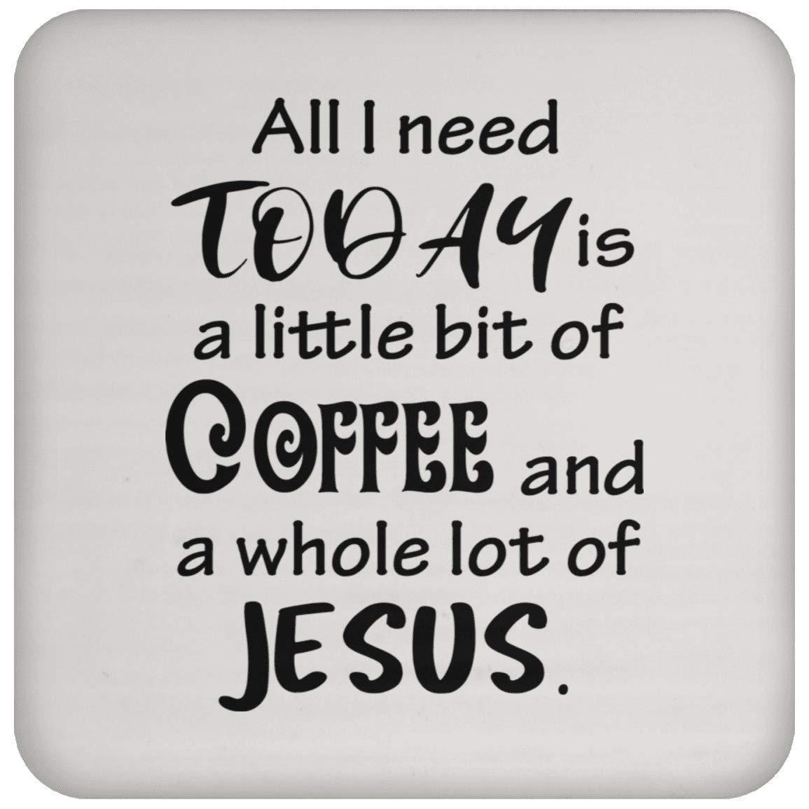 コーヒーとイエスコースター - コーヒーティードリンク - 面白いノベルティギフトアイデア 神の愛 キュート 宗教的 楽しい感謝   B07NGS4SX1