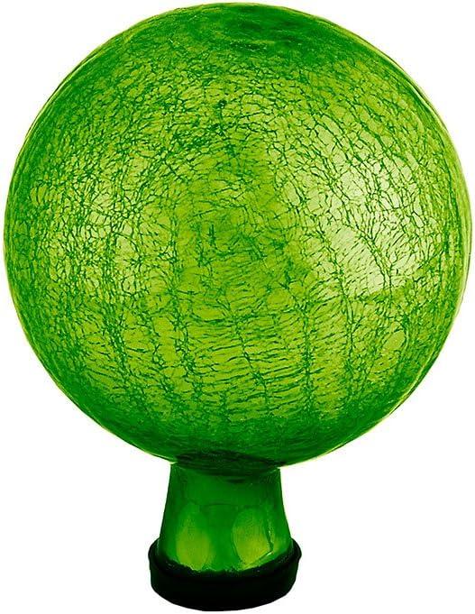 Achla Designs 6-Inch Crackle Gazing Globe Ball, Fern Green