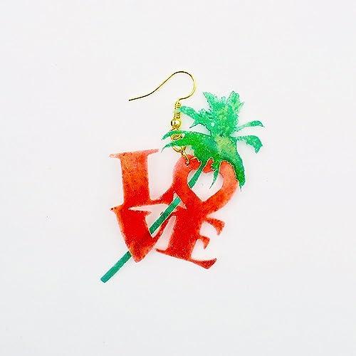 23e0db84f6bc Amore tropical pendientes poliamor joyas - Joyería love - Accesorios  corazón - Novedad pendientes palmas -