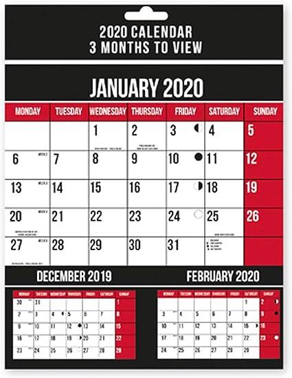 Calendario 2019 de 3 meses para ver calendario, planificador de ...