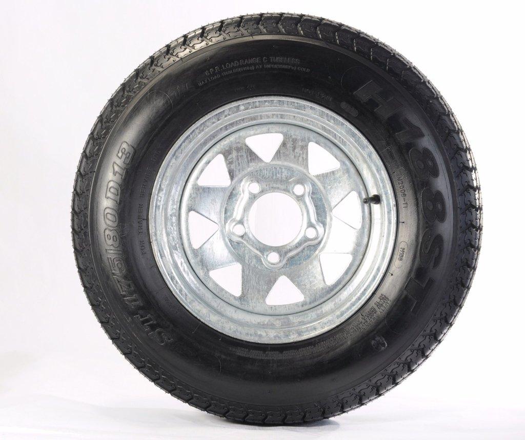 Kenda 175/80D13 Trailer Tire with 13″ Galvanized Spoke Rim