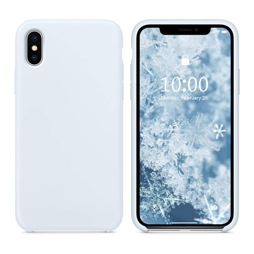 size 40 900f2 1d2d6 SURPHY Silicone Case for iPhone Xs iPhone X Case, Soft Liquid Silicone Slim  Rubber Protective Phone Case Cover (with Soft Microfiber Lining) ...