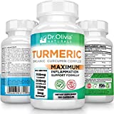 Organic Turmeric Curcumin w/ Ginger, Boswellia & BioPerine® Formulated by Clinical Nutritionist Dr. Olivia Joseph [120 Caps - 2 Mo Supply]