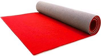 1,00m x 1,00m Rot Hochzeitsl/äufer Hochzeitsteppich VIP-Teppich Schwer Entflammbarer Teppichl/äufer Empfangsteppich Eventteppich Rutschfest SALSA