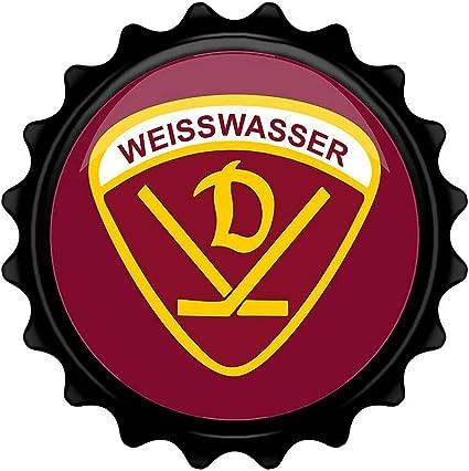 SPORTSMA Dynamo Wei/ßwasser Flaschen/öffner aus Metall Eishockey Fanartikel