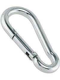 2 Aluminum D Shape Screwgate Carabiner Hook Lock Hanger Outdoor Sport Silver