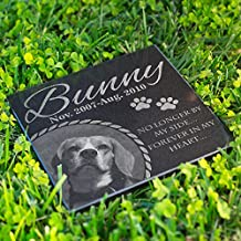 Personalized Dog Memorial With Photo Free Engraving MDL3 Customized Grave Marker | 12x12