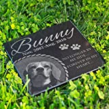 Personalized Dog Memorial With Photo Free Engraving MDL3 Customized Grave Marker | 6x6